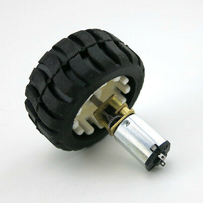 2Pcs New N20 Micro Gear Motor with Rubber Wheels 6V For Robot Smart Car Good