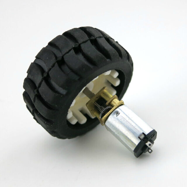 1Pcs New N20 Micro Gear Motor with Rubber Wheels 6V For Robot Smart Car