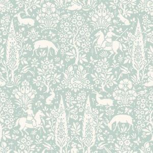Image is loading Duck-Egg-Animal-Print-Wallpaper-Rabbits-Deer-Stag-