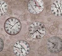 Capri Clockface Premium Quality 100% Pvc Oilcloth Tablecloth 20m Roll