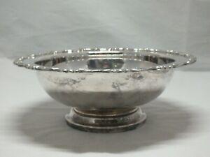 Vintage Versilberte Obst Schale Centre Piece Dish Oneida Silversmith