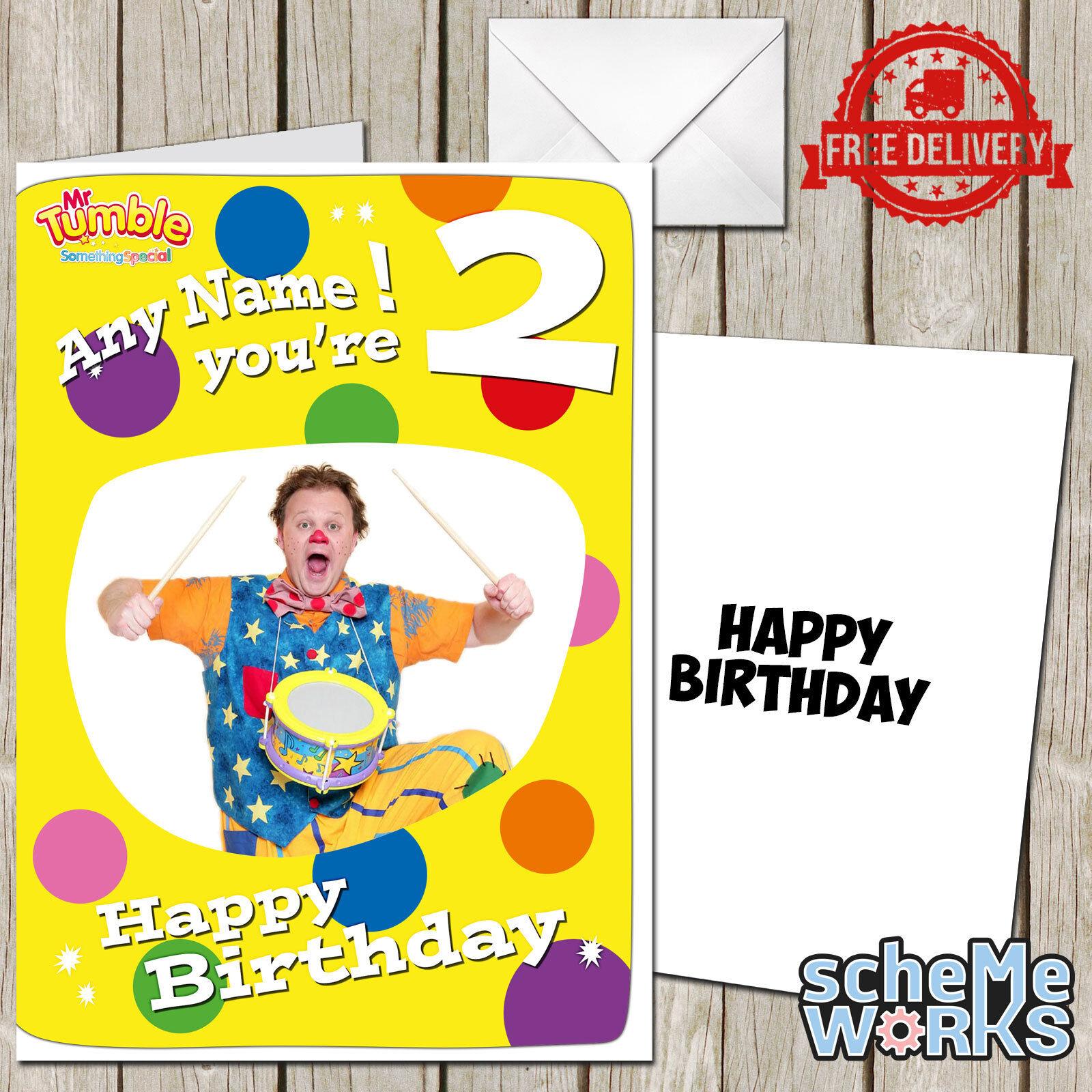 Mr Tumble Personalised Greeting Birthday Card Justin Something – Mr Tumble Birthday Card