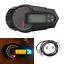 Universal-Digital-Motorrad-Tacho-Kilometerzaehler-Drehzahlmesser-12000RPM-Blinker Indexbild 1