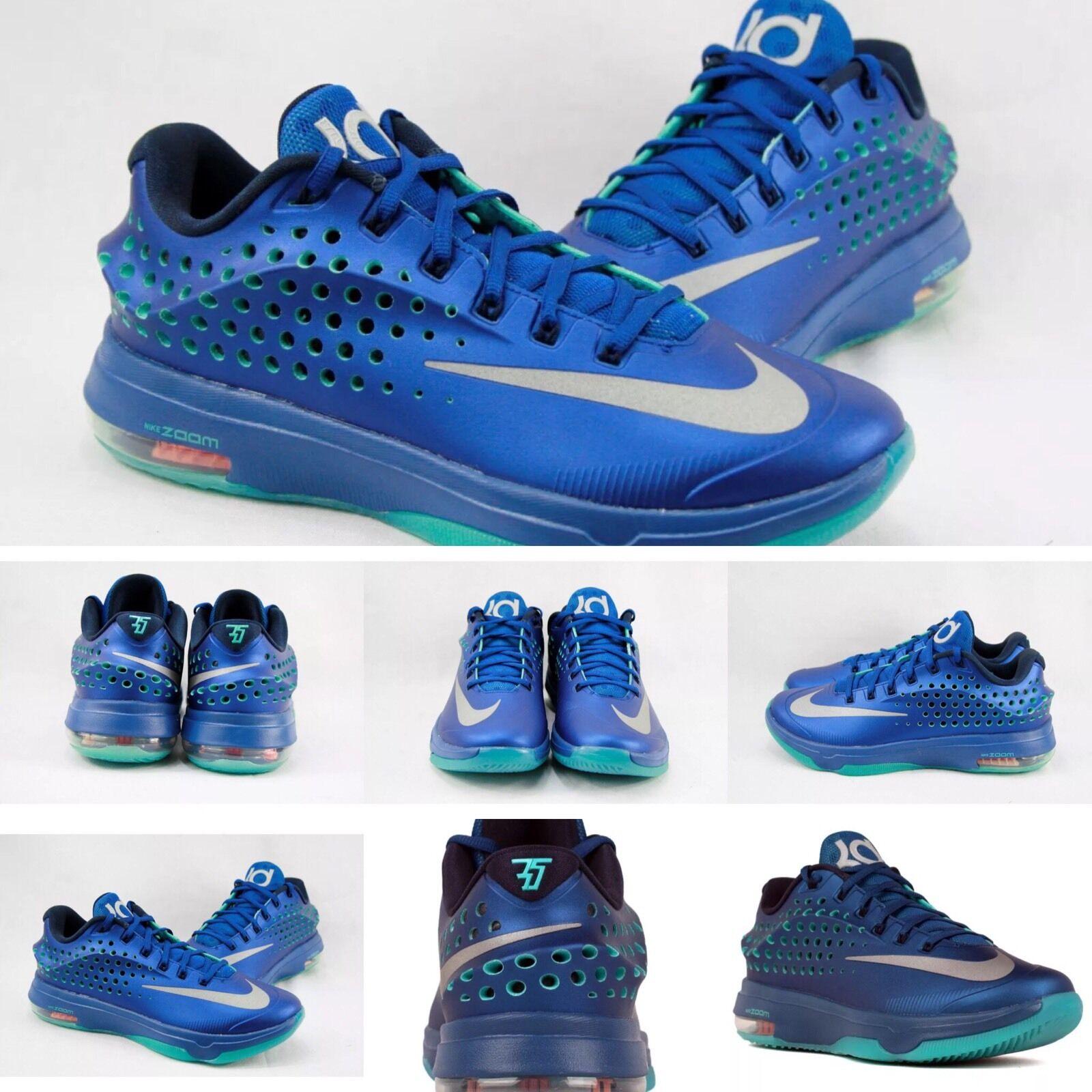 Nike KD VII 7 Elite Gym Blue/Metallic Silver 724349-404 size 10 Kevin DURANT