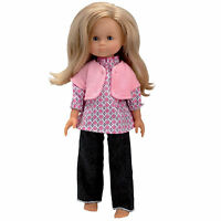 Corolle 13 Les Cheries Denim Pants Set For Dolls Pink Vest Denim Box France