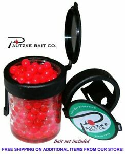 🌟 Pautzke Egg Lug Jar Flip Top Lid Provides Fast & Easy Access to Bait (Black)