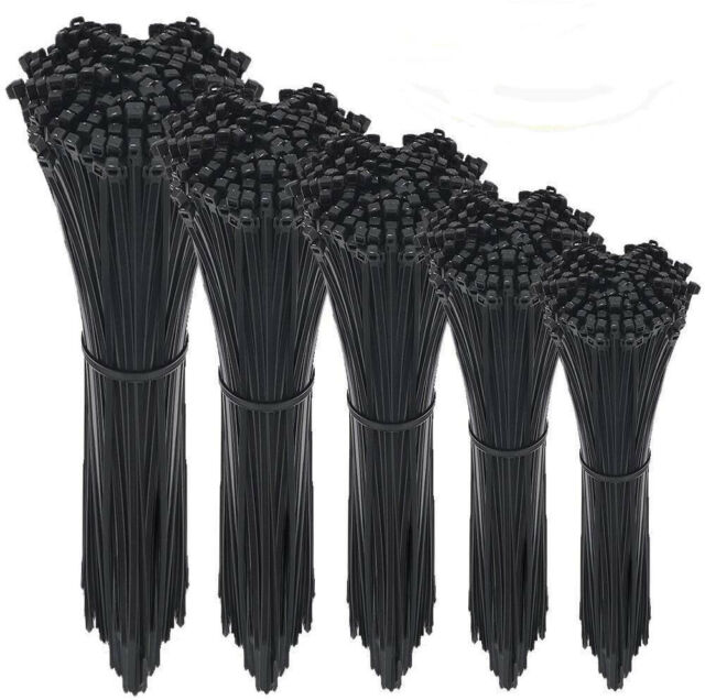AUSTOR 600 Pieces Zip Ties Black Nylon Cable Heavy Duty in 4 6...