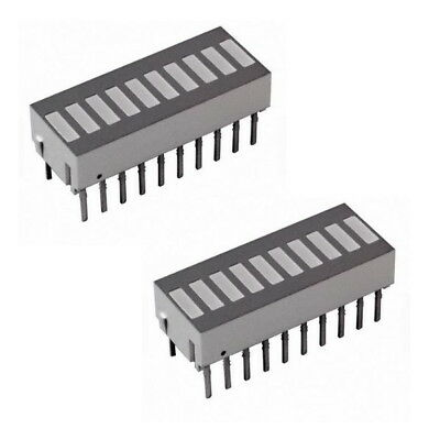 QTY 2x HP hdsp-4836 10-Element Bar Graph Array NEW
