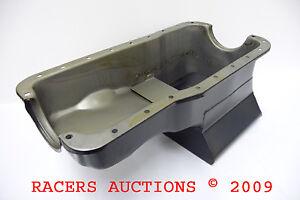 Ford-302-Street-Strip-Front-Sump-Oil-Pan-Black-7qt-Drag-Small-Block-260-289-SBF