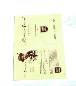 k107 Schrumpffrei Hingebungsvoll Decca Musikplatten Katalog Der Bunte Traum Vico Torriani Singt..auf Decca