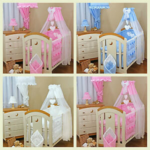 Image is loading LOVELY-BABY-Swingging-CRIB-COT-COT-BED-CANOPY- & LOVELY BABY Swingging CRIB / COT/COT BED CANOPY DRAPE +free stand ...