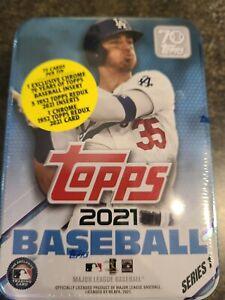 2021 Topps Series 1 MLB Baseball Collectible Tin Factory Sealed