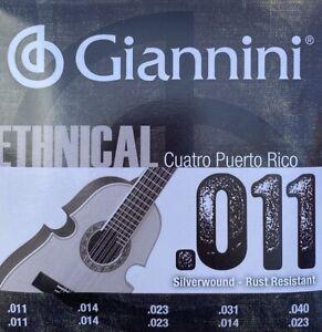 Cuerdas Giannini para Cuatro Puertorriqueño , Puerto Rican Cuatro Strings.