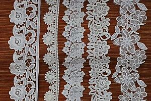 White-Cotton-Edge-And-Double-Side-Trim-Vintage-Crochet-Lace-Stitching-Embellish