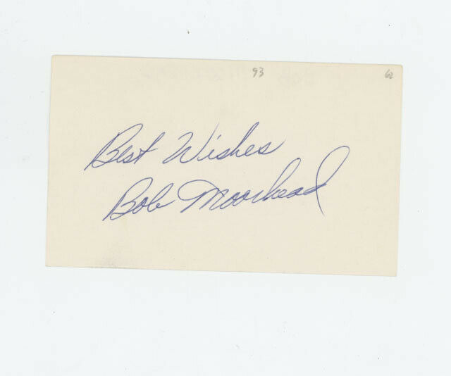 Bob Moorhead 1962 New York Mets signed 3x5 index card Beckett authenticated