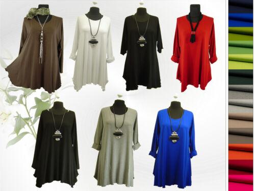 PoCo DeSiGn LAGENLOOK Long-Shirt Tunika schwarz L-XL-XXL-XXXL 44 48 50 52 56 58