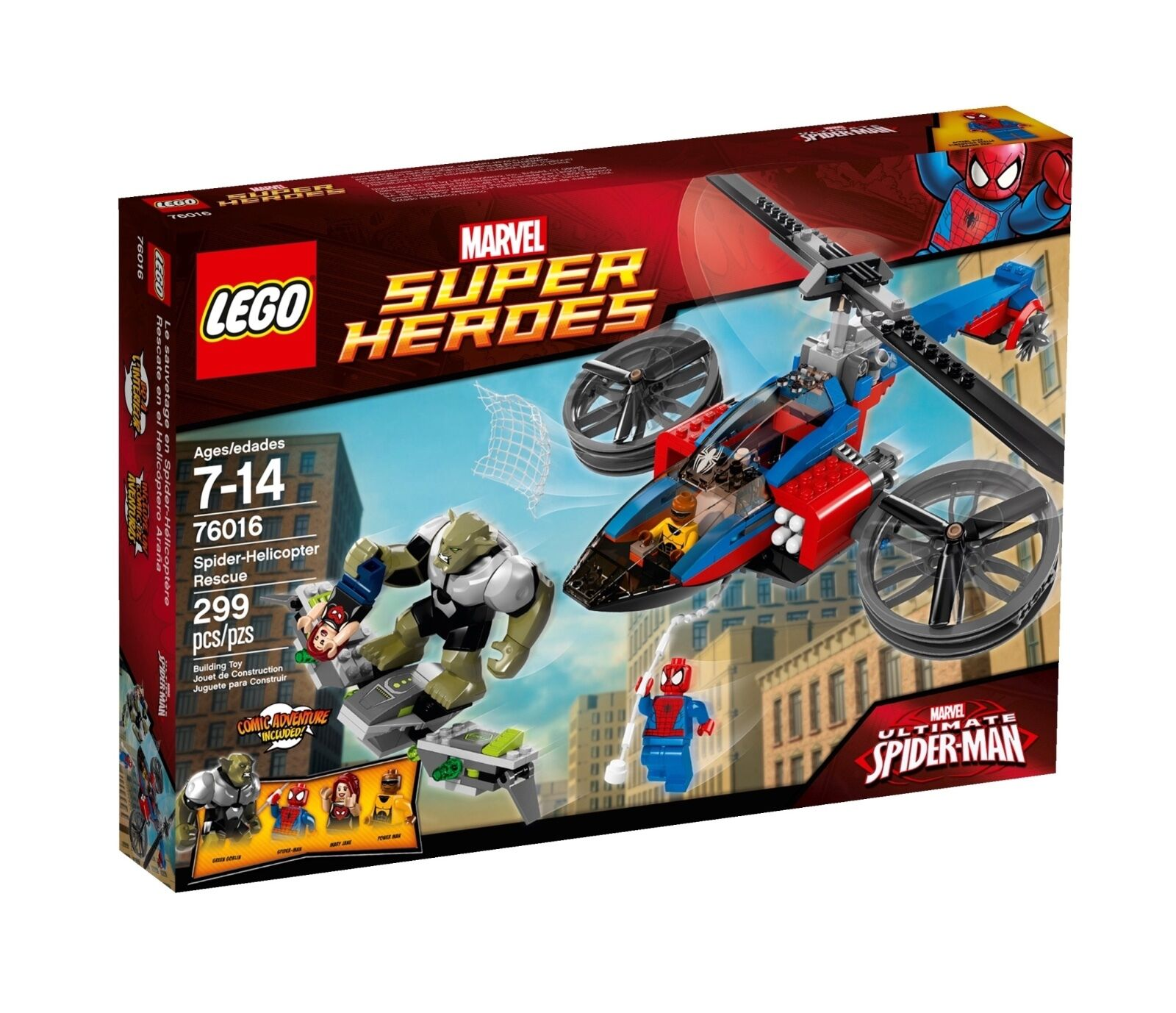 Lego Super Heroes Spider-Man helicopter rescue 76016 - new sealed box free P&P