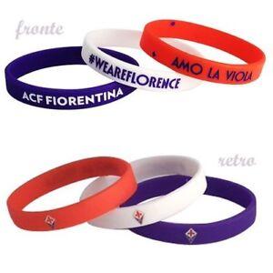 Set-3-braccialetti-Ufficiali-Fiorentina-la-Viola-Firenze-silicone-1-per-tipo