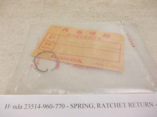 Honda NOS HR21 # 23514-960-770 S-177//2 Ratchet Return Spring HR21K1