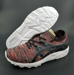 outlet store e0df0 d04d2 Details about Asics Tiger Gel Kayano Trainer Knit SIZE 8 Men Running Shoes  Black HN7Q4-9790