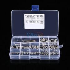 240pcs M3/M4/M5/M6/M8 Hex Socket Set Grub Screws Assortment Kit w/ 5pcs Hex Keys