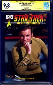 Star-Trek-New-Visions-22-PHOTO-VARIANT-CGC-SS-9-8-signed-William-Shatner-NM-MT