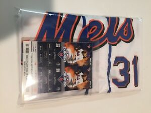 info for 61bdd 34193 Details about MIKE PIAZZA Replica Jersey, HOF NY Mets #31 Retirement,  7/29/2016 Citi Field SGA
