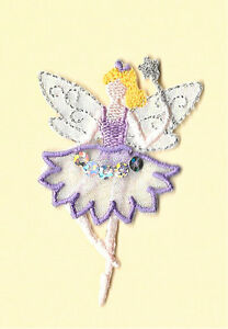 Fairy-In-Purple-W-Wand-Metallic-Embroidery-Sequins-Iron-On-Applique-Patch