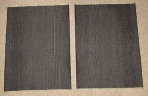 New-Speaker-Fabric-Grill-Cloth-Black-for-Klipsch-Heresy-Speakers-PAIR