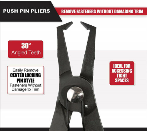 30° Push Pin Pliers Removal Tool Plastic Rivet Center Pin Panel Clip Fastener