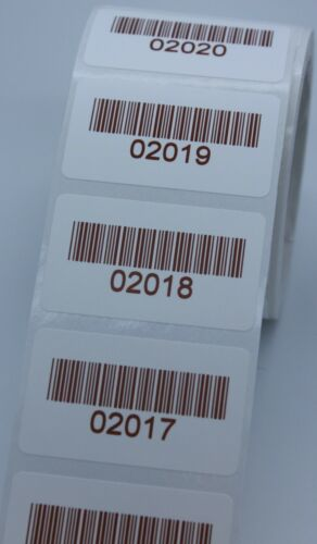 PAT Testing 40x24mm 500 Coloured  Personalised Barcode Asset Labels Stickers