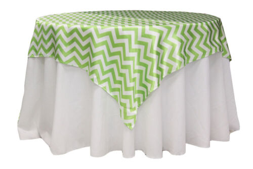 Variety Colors Chevron Tablecloth Square Overlay 54 Inch By Broward Linens