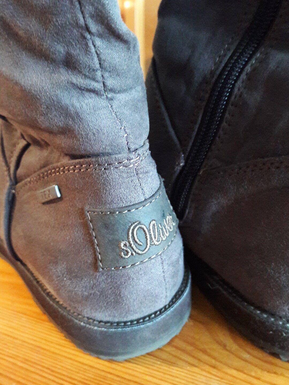 S.oliver S.oliver S.oliver Damen Stiefel hohe Fellstiefel Boots Gr. 38 dunkelbraun 4bc996