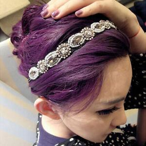 Fashion-Vintage-Women-039-S-Retro-Crystal-Rhinestone-Beads-Headband-Hair-Band-SK