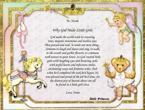 image is loading 034 why god made little girls 034 personalized