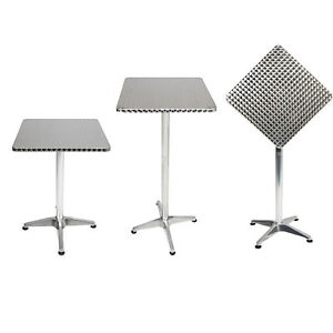 mojawo bistro stehtisch aluminium 60x60cm h henverstellbar klappbar balkontisch ebay. Black Bedroom Furniture Sets. Home Design Ideas