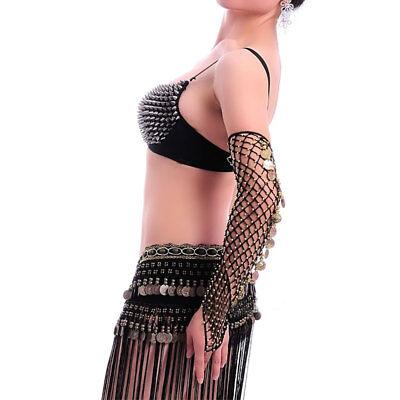 Amabile C120 Un Paio Di Danza Del Ventre Rete Arms Tulipani Con Paillenten Danza Orientale- Forma Elegante