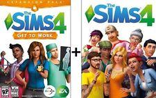 SALE!! Sims 4 + Get to Work pack bundle PC/Mac  MULTILANGUAGE
