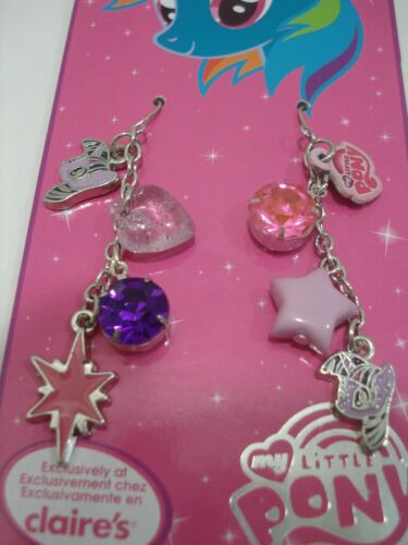 My Little Pony Twilight Sparkle Charms Mismatched Girl/'s Drop Earrings Purple