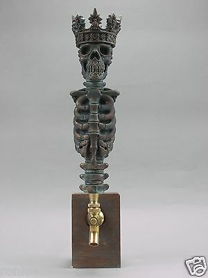 """""""KING"""" WARRIOR SKULL BAR BEER TAP HANDLE DIRECT FROM RON LEE"""