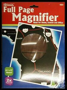 FULL-PAGE-MAGNIFIER-MAGNIFYING-SHEETS-2-COUNT-Lens-is-shatterproof-OPTICAL-GRADE