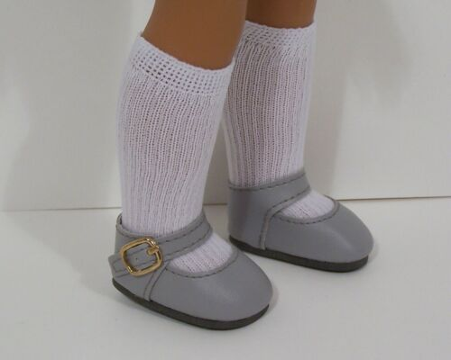 """GRAY Snazzy Doll Shoes For 14/"""" American Girl Wellie Wisher Wishers Debs"""