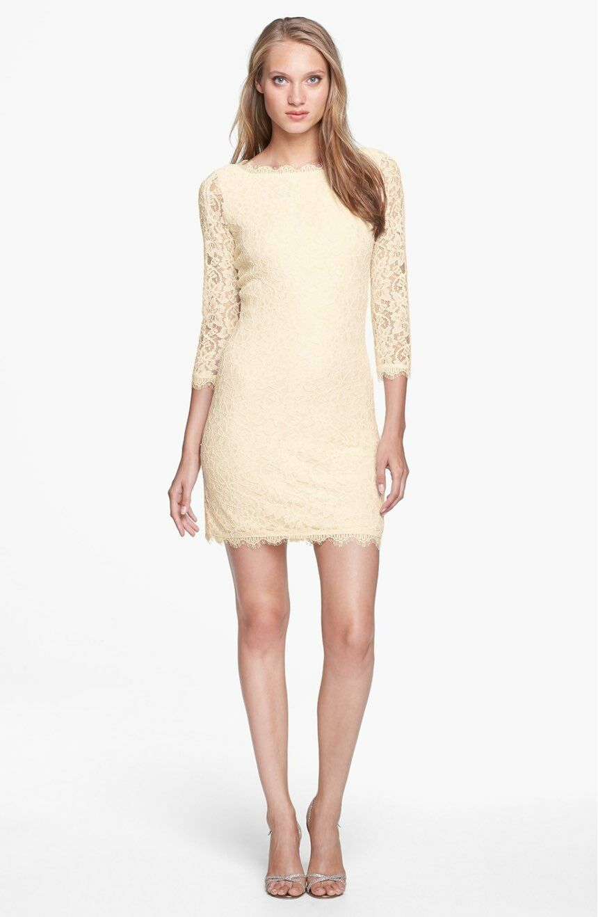 Diane von Furstenberg Zarita Lace Dress Available in Sizes 8, 12, 14