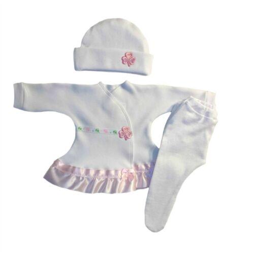 Baby Girls/' Pink Shamrock Irish Dress Hat Tights 4 Preemie /& Newborn Sizes