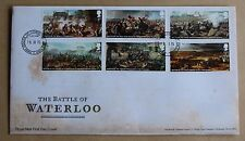 Battaglia di Waterloo 2015 Royal Mail FDC House of Commons handstamp