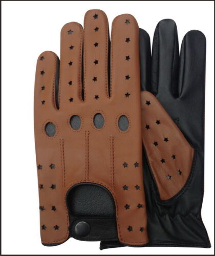 REAL SOFT LEATHER MEN/'S KNUCKLE HOLES WITHOUT LINING GLOVES