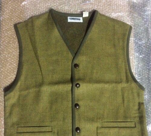 ORVIS Pure Wool Plaid SWEATER VEST Size L