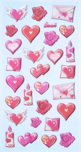 Sticker CREApop Softysticker LOVE Herzen Hochzeit Scrapbooking Einladung
