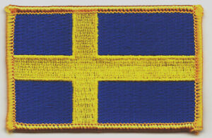 """Flag of Sweden Iron On Patch 2 1//2/"""" x 1 1//2/"""" Free Shipping by Envelope Mail"""