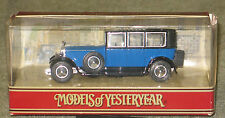 MATCHBOX YESTERYEAR Y36-B ROLLS ROYCE PHANTOM 1 BLUE IN ORIGINAL BOX MIB